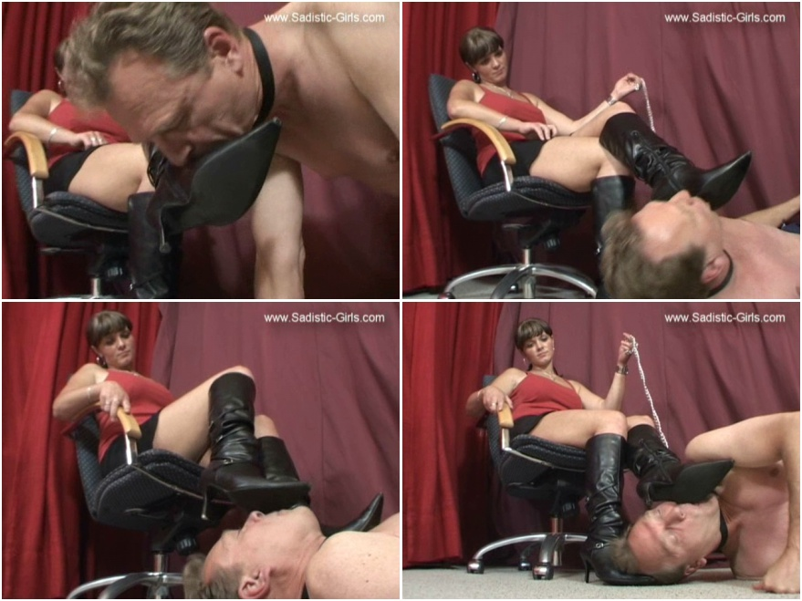 Boot licking and female domination fetish 004