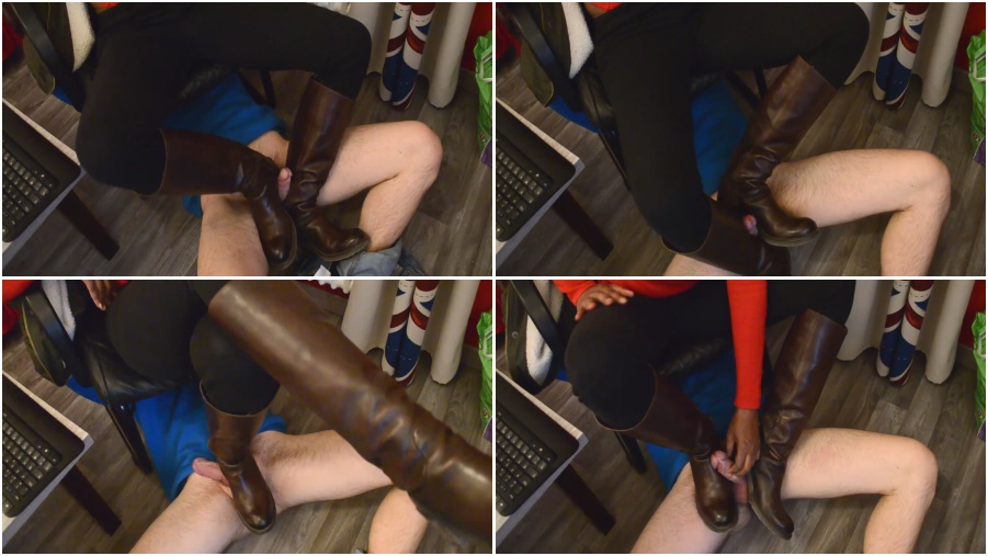 Boots femdom video, boot fetish, bootjob