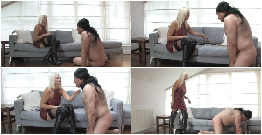 Boots femdom video, boot licking, worship