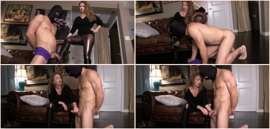Ballbusting and boots licking, boot femdom