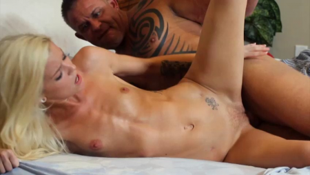 Sexy young girl and old man