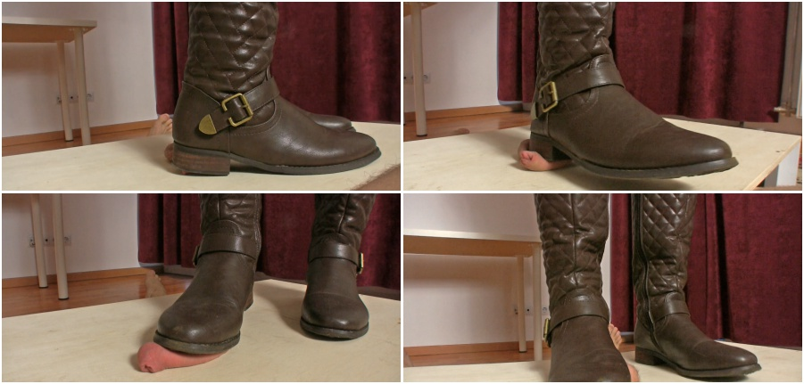Boots femdom video, boot fetish, dick trampling