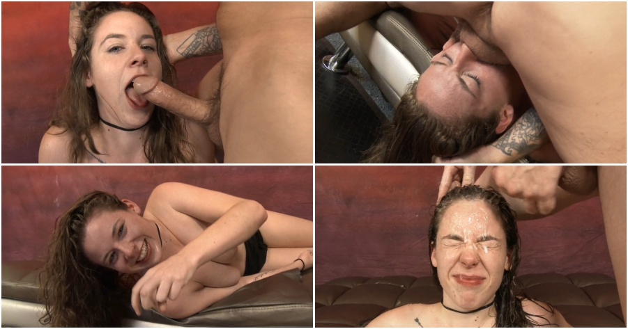 Young girl tries very deepthroat with cumshot