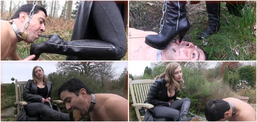 Boots femdom video, dirty boot licking, fetish