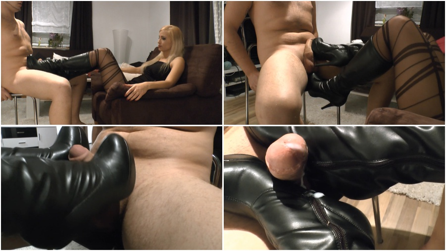 Boots femdom video, bootjob, boot fetish