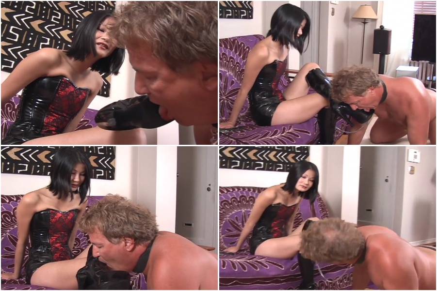 Boots licking femdom video, boot fetish