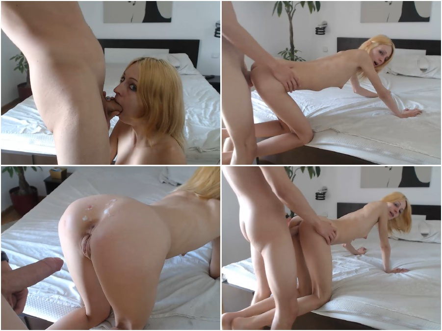 Amateur porn video, young girl, sexy skinny blonde