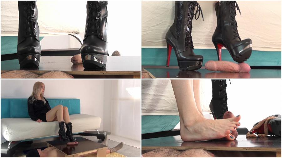Boots femdom video, bootjob