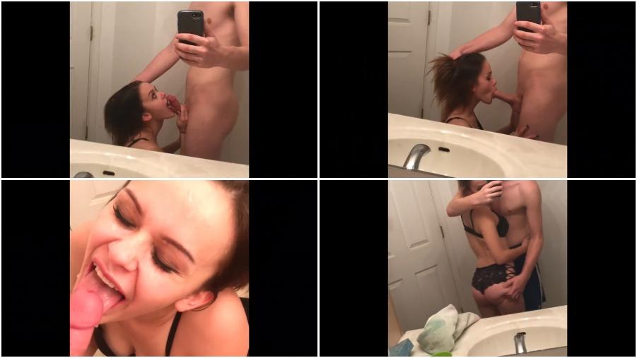 Amateur young girl, beutiful teenager makes blowjob