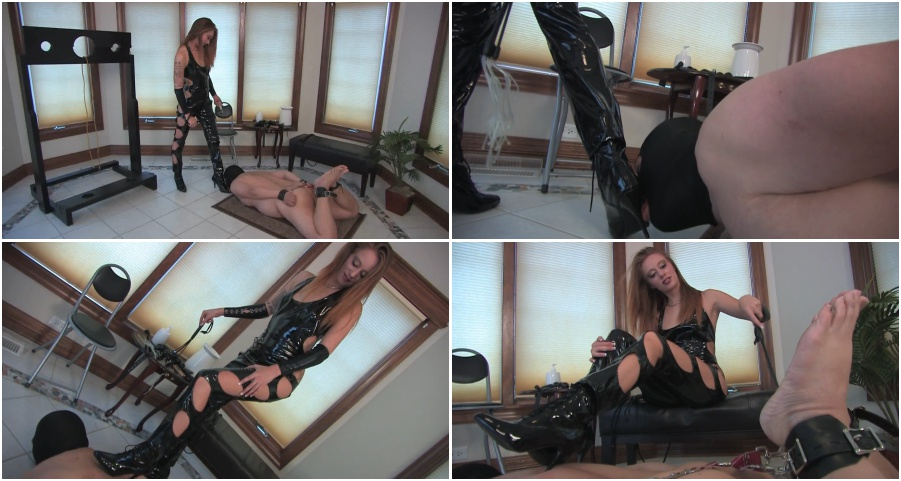 Boots femdom video, amazing boots licking
