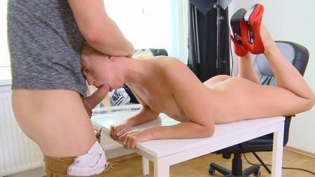 Young blonde Violette anal porn video