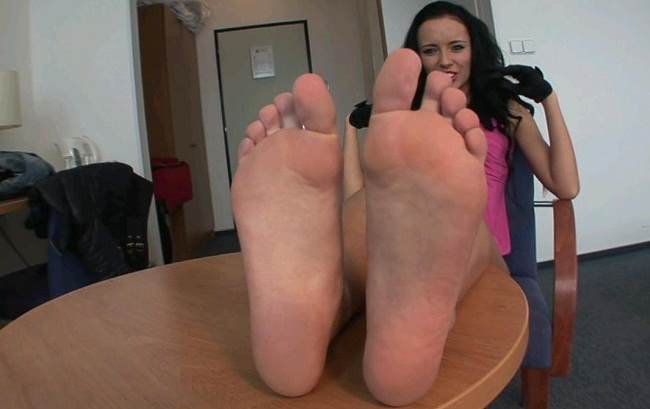 Jena foot fetish, footjob and blowjob