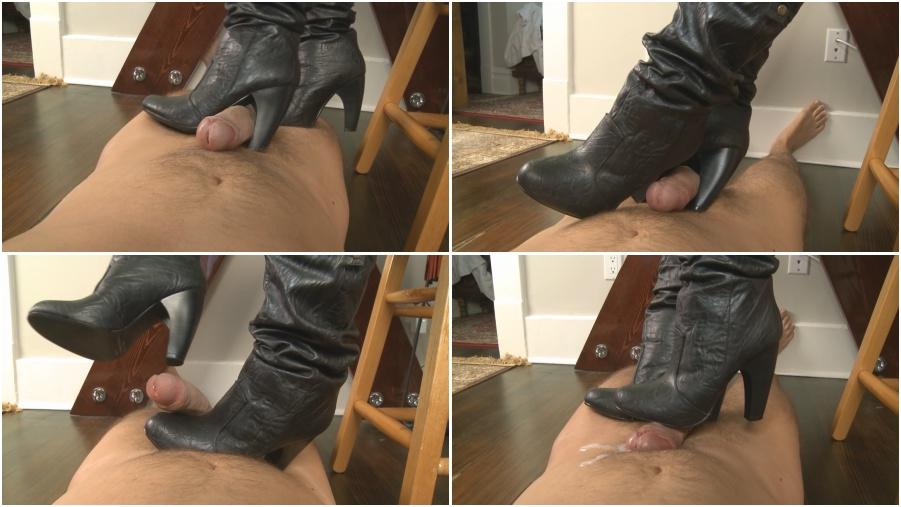 Amazing bootjob, boots femdom video